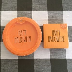 Rae Dunn Happy Halloween Paper Plates & Napkins